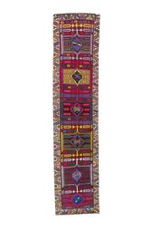 Turkish Handmade Canary Lane Tribal Handmade Antique-'Britt' Vintage Turkish Runner
