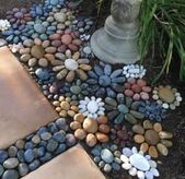 My pebble mosaic. I nonetheless have 6' ft to go. It takes about an hour per sq. foot. – Salvabrani