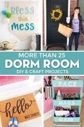 25+ Cricut DIY-Projekte für das beste Wohnheimzimmer-Dekor – Nähideen, Tipps und Pa …