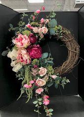 Superbes 50 idées de décoration de couronne de printemps maison   – Decoration