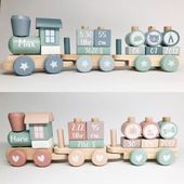 The most beautiful trains in the world ❤️ Little Dutch train mint or pink by ➡️www.schmatzepuffer.com #toys children's room Little Dutch – wooden game …