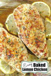 Gebackene Zitronenpfeffer-Hühnerbrust