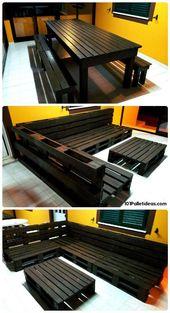 Pallet Dining Set & Sofa Set – 15 Top Palettenprojekte, die Sie zu Hause bauen können – E…