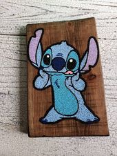 Stitch dot art // hand painted wood art // wooden wall hanging // home decor // …