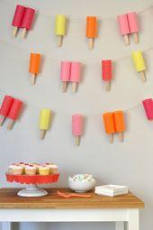 super makkelijk te maken.. wc-rolletjes, ijsco stokjes en gekleurd papier – Ice Cream Party
