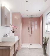 6 rosafarbene Badezimmer, in denen Sie sich einen schnelleren Frühling wünschen #badezimmer …