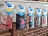 MONTHLY PHOTO CLIPS, Donald Duck, Mickey Mouse, First Birthday Banner, Monthly Photo Display, Disney Party, Party Decor, Birthday Party – idee