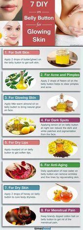 DIY: Tragen Sie diese 7 Zutaten auf den Bauchnabel auf, um eine strahlende Haut zu erhalten   – Skin