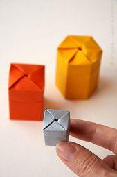 Selbstschließende Origami Twist Box   – Origami