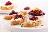 Rezept: Brie-Croutons und Cranberries.   – Noel