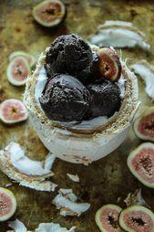 Vegan Dark Chocolate Coconut Fig Ice Cream