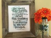 Objects much like Instructor Present, Instructor Quote, Bible Verse Artwork, Proverbs 31:26, Instructor Appreciation, Inspirational Artwork Print, Handmade Watercolor Artwork Print on Etsy