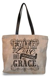 Canvas Shopping Tote Bag This Home Built on Faith Family and Friends Foundation Beach for Women