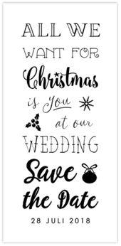 Save the Date kerstkaart met kerst details en foto