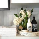 Frisches Badezimmer und modernes Puderzimmer enthüllen
