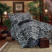 Bungalow Rose Kenitra Zebra Volant   – Zebra print bathroom/bedrooms