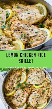 Lemon Chicken Rice Skillet – American Food Recipes