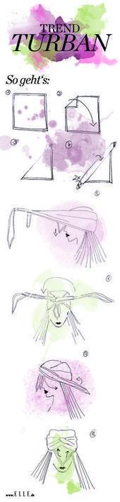 In 8 Schritten sehen Sie den Turban- # Schritte #turbant   – Fashion