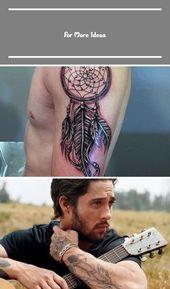 100 Dreamcatcher Tattoos For Men – Divine Design Ideas –  # country tattoo for m…   – boho-decor-ideas
