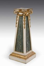 Mid 19th Century Parcel Gilt Column
