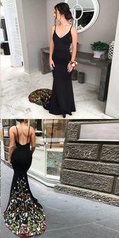 Nettes Abschlussballkleid, schwarze Abschlussballkleider Trompeten-Nixe-Isolationsschlauchbügel Sexy Blumenspitze-Abschlussballkleid