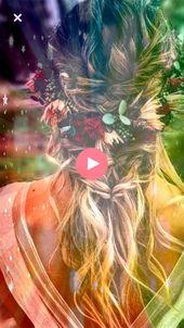 #pretty #flower #crown #loose #braid #boho