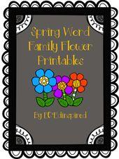 Wort Familie Blume Ausdrucke – April Themes