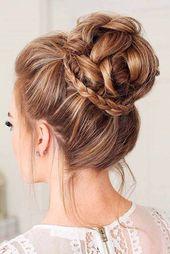 30 Brötchen Frisuren für Frauen, um wunderschön aussehen  #aussehen #brotchen… – Beliebte Haarschnitte