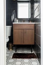 Modern Powder Room Reveal