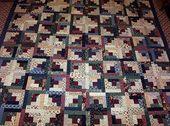 Image result for king size log cabin quilt pattern…
