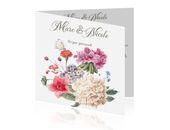 60 jaar getrouwd kaart met bloemen en vlinders
