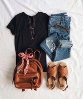 Tan simple y fácil. Me gusta la bolsa y los accesorios simples.   – Fashion/ Mode