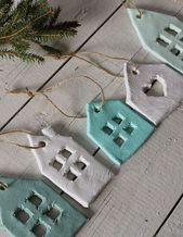 DIY Weihnachtsdekorationen für Terrakottawohnzimmer   – Noël GS