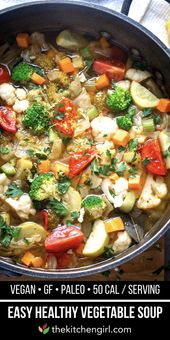 Easy Homemade Vegetable Soup Recipe The Kitchen Girl Recipe Vegetable Soup Healthy Vegetable Soup Recipes Healthy Vegetables