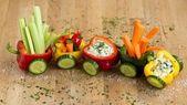 Gemüse-Zug für kleine Abenteurer ✔ Gemüse mit Spaß snacken ✔ Klindgerech …  – fingerfood