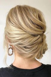 pinterest wedding hairstyles elegant side updo on blonde hair krystlewaiviohair ...,  #blonde...
