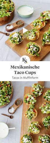 Mexikanische Taco Cups