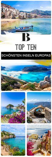 Top Ten: Das sind die 10 schönsten Inseln in Europa 🏖