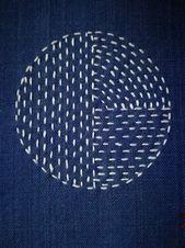 Photo of Japanischer Boro Sashiko langsamer Stich Patch handgenäht von | Etsy