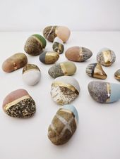 Make chalk paint yourself & paint stones with it ** …