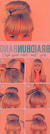 Quick and easy hairstyles for long, thick hair # thin hair # half-open #dutt #ponytail # everyday hairstyle