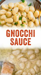 Einfache cremige Gnocchi-Sauce   – Veggie Main Meals
