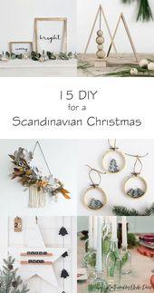 Wie erstelle ich eine skandinavische Weihnachtsdekoration?