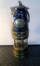 Vintage Original Brass Metal Miners Lamp Patterson Newcastle Type Gtl Coal Mining Brass Metal Hydrant