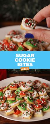 These Tiny Sugar Cookie Bites Will Win Your Next Holiday Party Recipes Holiday Baking Holiday Cookies