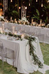 This oceanside garden wedding reception is modern meets elegant at its finest |