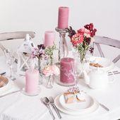Hübsche Tischdekoration in pink 💟 # Hochzeit #heiratenmitdepot #heiraten #hoch …   – Romantic Style