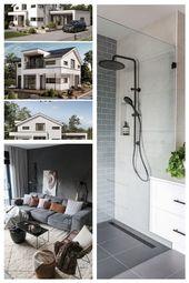 Einfamilienhaus in moderner Bauweise mit Satteldacharchitektur & separatem Büroausbau …   – home decor ideas modern