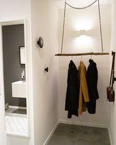 Unsere DIY Garderobe. Den Ast habe ich bei Dawanda…