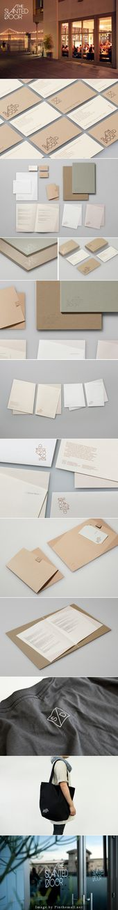 New Brand Identity for The Slanted Door by Manual – BP&O  – Diseño